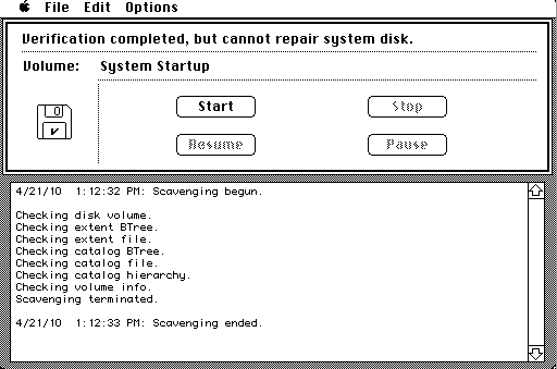 Disk First Aid 1.4.3